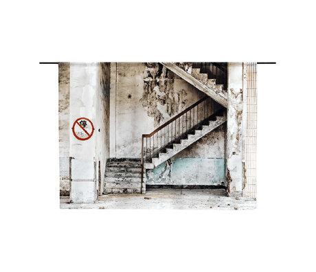 Urban Cotton Wandkleed Concrete Stairs organisch katoen verkrijgbaar in 3 maten
