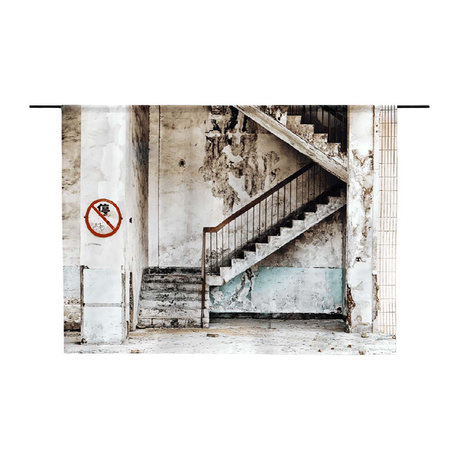 Urban Cotton Concrete Stairs organic cotton tapestry available in 3 sizes