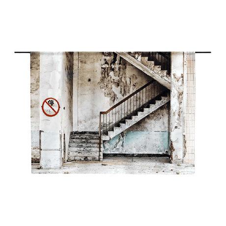 Urban Cotton Tapisserie en coton bio Concrete Stairs disponible en 3 tailles