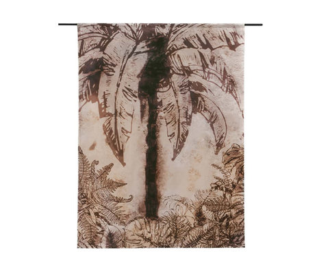 Urban Cotton Wandkleed Urban Jungle organisch katoen verkrijgbaar in 3 maten