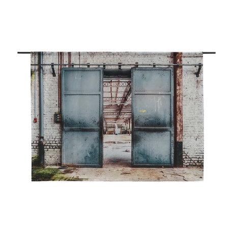 Urban Cotton Tenture murale Spinning Doors en coton bio disponible en 3 tailles