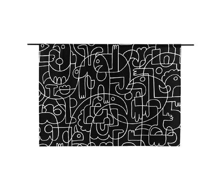 Urban Cotton Wandkleed Doodles organisch katoen verkrijgbaar in 2 maten