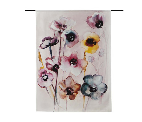Urban Cotton Tapestry Flowers in Soft Hues organic cotton available in 3 sizes