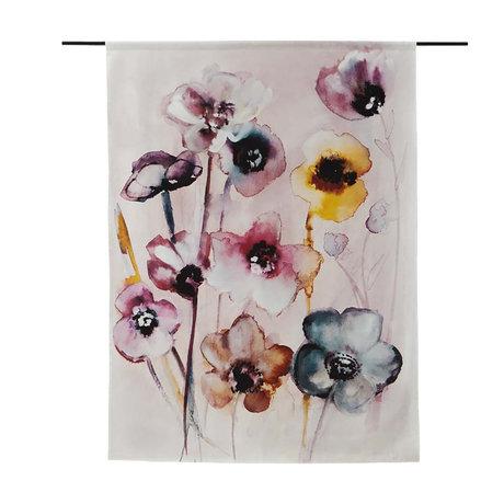 Urban Cotton Wandkleed Flowers in Soft Hues organisch katoen verkrijgbaar in 3 maten