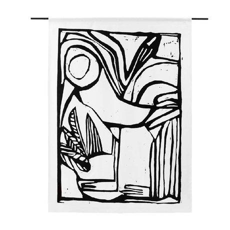 Urban Cotton Tenture murale en coton biologique Bird disponible en 3 tailles