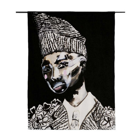 Urban Cotton Tapisserie Le Suit Limited Edition Bio-Baumwolle 177x130x0,6 cm