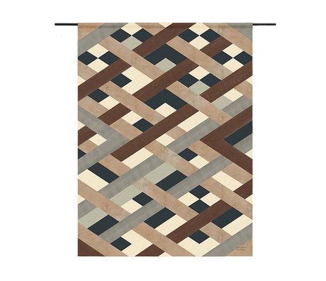 Urban Cotton Wandkleed Timber organisch katoen verkrijgbaar in 3 maten