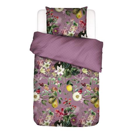 ESSENZA Dekbedovertrek Mary lila multicolour textiel 140x220cm - incl. kussensloop 60x70cm