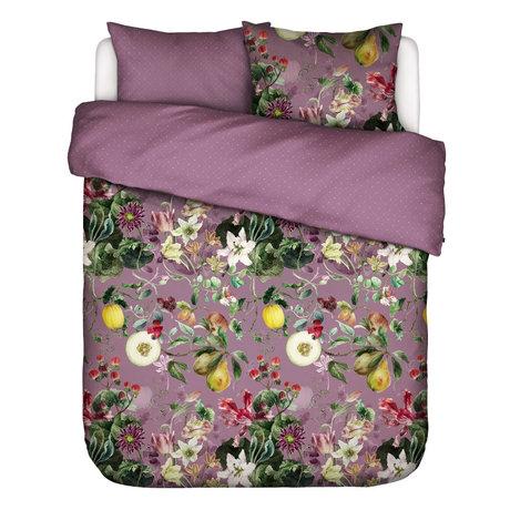 ESSENZA Dekbedovertrek Mary lila multicolour textiel 240x220cm - incl. 2x kussensloop 60x70cm