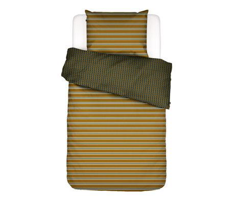 ESSENZA Housse de couette Meg ocre jaune multicolore textile 140x220cm - Taie d'oreiller incluse 60x70cm