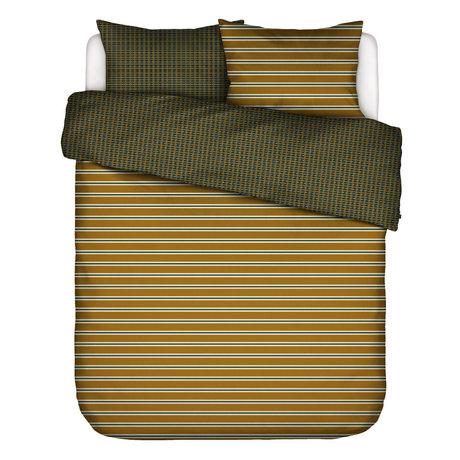 ESSENZA Dekbedovertrek Meg okergeel multicolour textiel 240x220cm - incl. 2x kussensloop 60x70cm