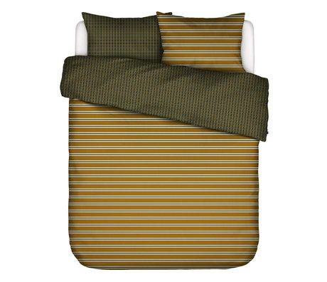 ESSENZA Housse de couette Meg ocre jaune multicolore textile 260x220cm - avec 2x taie d'oreiller 60x70cm