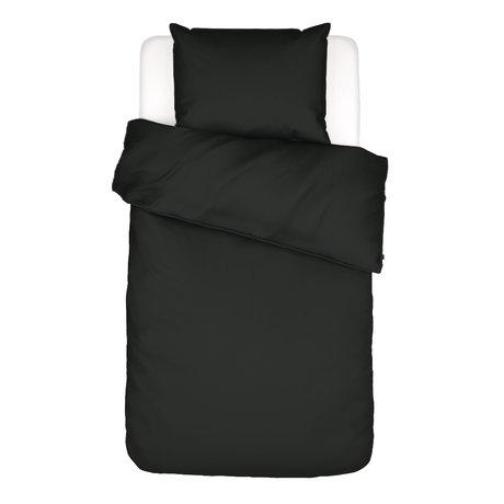 ESSENZA Dekbedovertrek Minte antraciet grijs textiel 140x220cm - incl. kussensloop 60x70cm