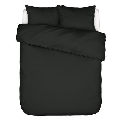 ESSENZA Dekbedovertrek Minte antraciet grijs textiel 200x220cm - incl. 2x kussensloop 60x70cm