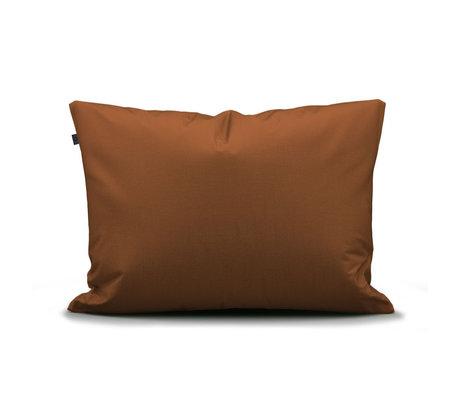ESSENZA Taie d'oreiller Minte Cuir marron textile 60x70cm