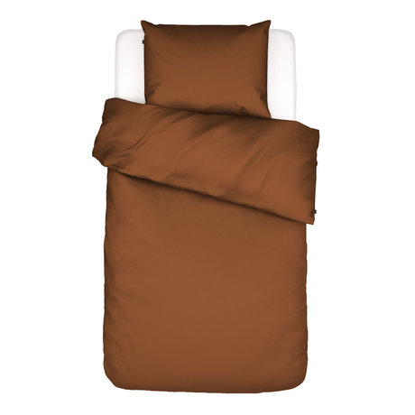ESSENZA Duvet cover Minte Leather, brown textile 140x220cm - incl. Pillowcase 60x70cm