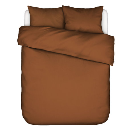 ESSENZA Duvet cover Minte Leather, brown textile 200x220cm - incl. 2x pillowcase 60x70cm