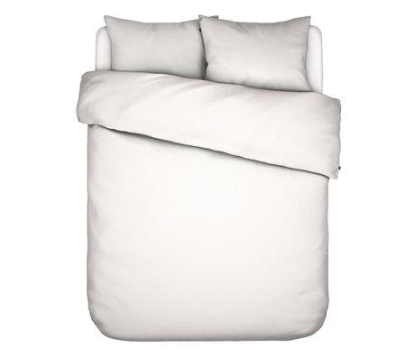 ESSENZA Housse de couette Minte en textile blanc 200x220cm - avec 2x taie d'oreiller 60x70cm