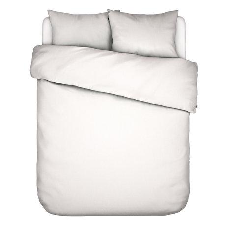 ESSENZA Housse de couette Minte en textile blanc 240x220cm - avec 2x taie d'oreiller 60x70cm