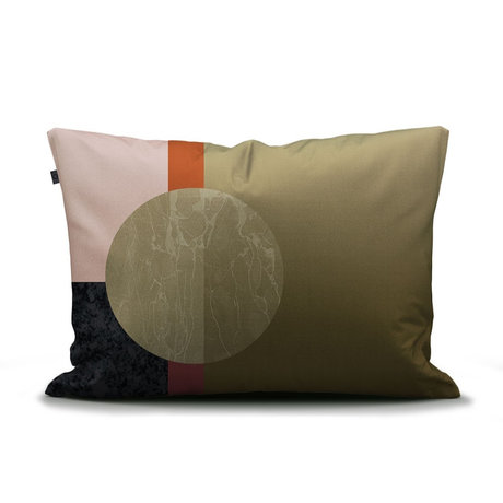 ESSENZA Taie d'oreiller Mulan vert multicolore en coton 60x70cm
