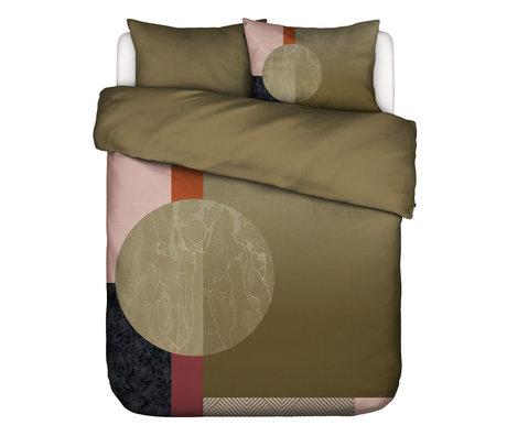 ESSENZA Bettbezug Mulan grün mehrfarbig Baumwolle 200x220cm - inkl. 2x Kissenbezug 60x70cm