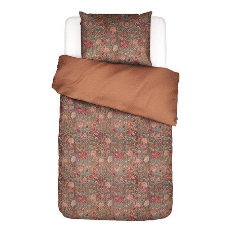 ESSENZA Housse de couette Odite en terre cuite multicolore textile 140x220cm - Taie d'oreiller incluse 60x70cm