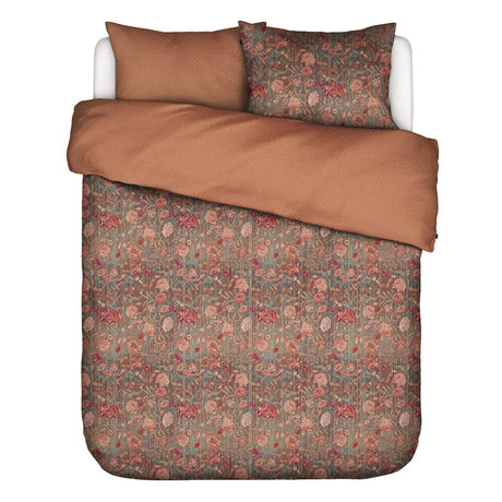 ESSENZA Dekbedovertrek Odite terracotta multicolour textiel 200x220cm - incl. 2x kussensloop 60x70cm