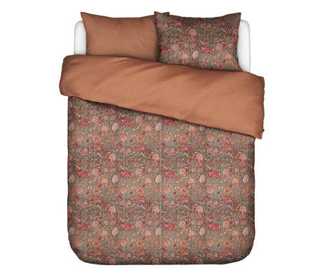 ESSENZA Housse de couette Odite en terre cuite multicolore textile 260x220cm - avec 2x taie d'oreiller 60x70cm