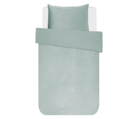 ESSENZA Housse de couette Minte vert poussiéreux textile 140x220cm - Taie d'oreiller incluse 60x70cm