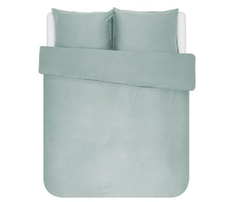 ESSENZA Dekbedovertrek Minte dusty groen textiel 200x220cm - incl. 2x kussensloop 60x70cm