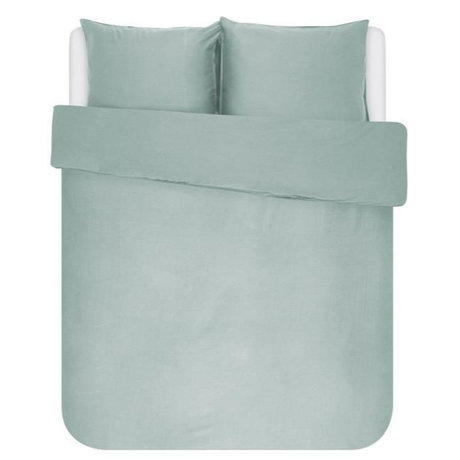 ESSENZA Housse de couette Minte vert poussiéreux textile 200x220cm - avec 2x taies d'oreiller 60x70cm