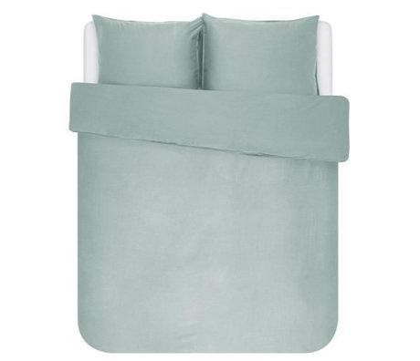 ESSENZA Housse de couette Minte textile vert poussiéreux 240x220cm - avec 2x taies d'oreiller 60x70cm
