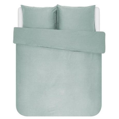 ESSENZA Dekbedovertrek Minte dusty groen textiel 240x220cm - incl. 2x kussensloop 60x70cm