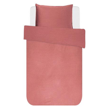 ESSENZA Dekbedovertrek Minte dusty roze textiel 140x220cm - incl. kussensloop 60x70cm