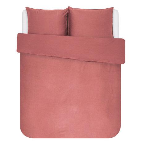 ESSENZA Housse de couette Minte textile rose poudré 240x220cm - avec 2x taies d'oreiller 60x70cm