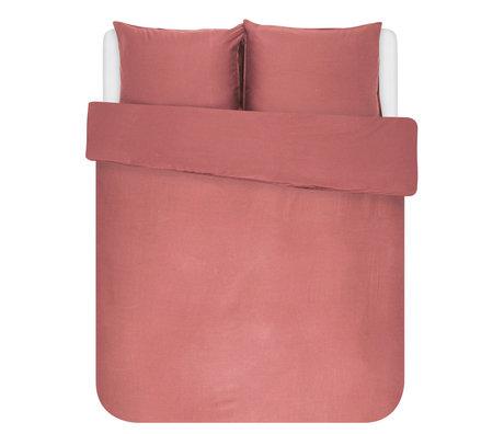 ESSENZA Dekbedovertrek Minte dusty roze textiel 260x220cm - incl. 2x kussensloop 60x70cm