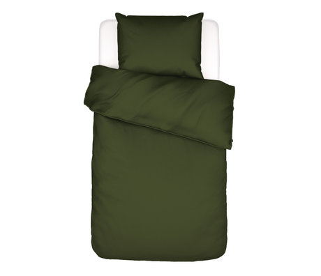 ESSENZA Bettbezug Otis olivgrün Baumwolle 140x220cm - inkl. Kissenbezug 60x70cm