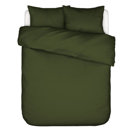 ESSENZA Bettbezug Otis olivgrün Baumwolle 260x220cm - inkl. 2x Kissenbezug 60x70cm