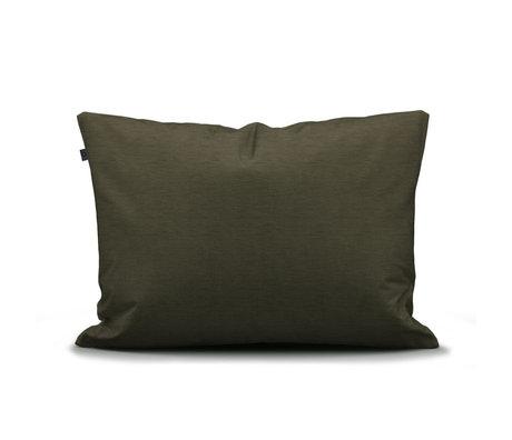 ESSENZA Taie d'oreiller Otis coton vert olive 60x70cm