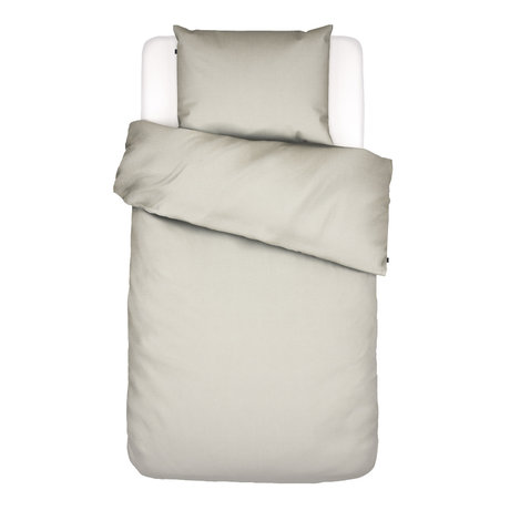 ESSENZA Housse de couette Otis écru en coton blanc 140x220cm - avec taie d'oreiller 60x70cm