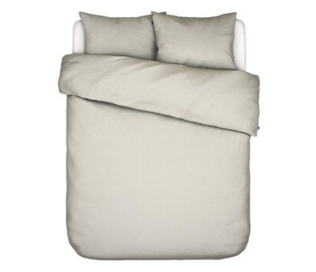 ESSENZA Housse de couette Otis écru en coton blanc 240x220cm - avec 2x taies d'oreiller 60x70cm