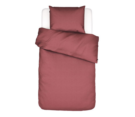 ESSENZA Duvet cover Otis red cotton 140x220cm - incl. Pillowcase 60x70cm