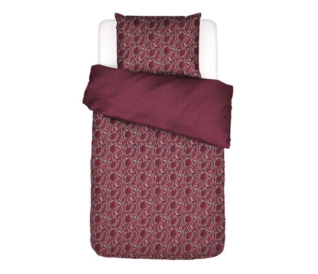 ESSENZA Duvet cover Solan burgundy red textile 140x220cm - incl. Pillowcase 60x70cm