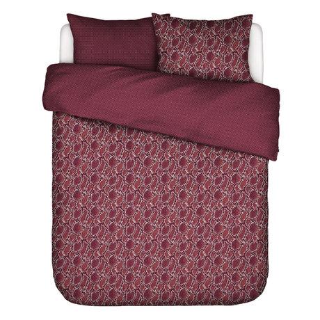 ESSENZA Dekbedovertrek Solan burgundy rood textiel 200x220cm - incl. 2x kussensloop 60x70cm