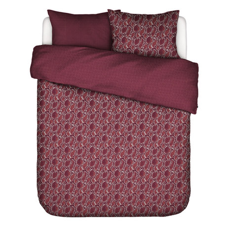 ESSENZA Duvet cover Solan burgundy red textile 240x220cm - incl. 2x pillowcase 60x70cm