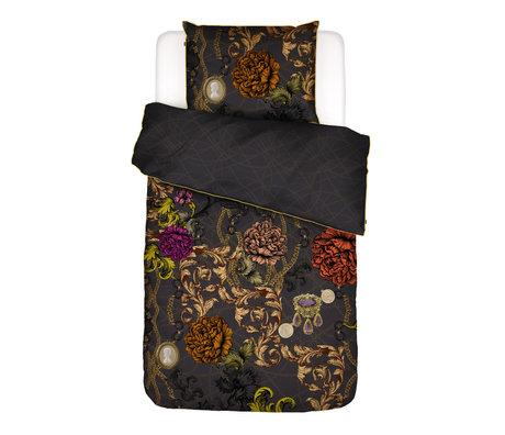 ESSENZA Dekbedovertrek Valente antraciet grijs multicolour textiel 140x220cm - incl. kussensloop 60x70cm