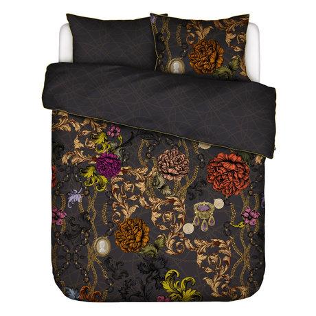 ESSENZA Dekbedovertrek Valente antraciet grijs multicolour textiel 240x220cm - incl. 2x kussensloop 60x70cm