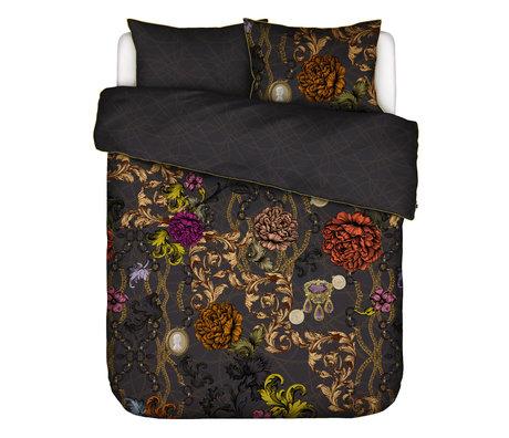 ESSENZA Housse de couette Valente gris anthracite multicolore textile 260x220cm - avec 2x taie d'oreiller 60x70cm