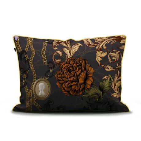 ESSENZA Pillowcase Valente anthracite gray multicolour textile 60x70cm