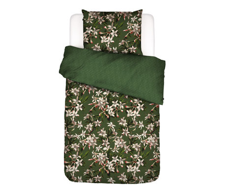 ESSENZA Dekbedovertrek Verano groen multicolour textiel 140x220cm - incl. kussensloop 60x70cm
